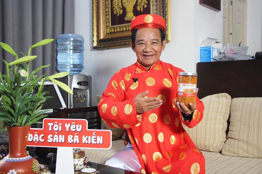 Nghệ sĩ Quang Tèo đánh giá cao chất lượng Ruốc tôm Bá Kiến