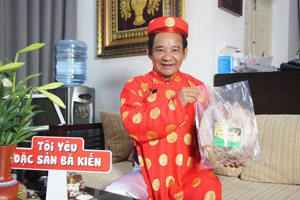 Nghệ sĩ Quang Tèo đánh giá cao chất lượng Mực khô Cô Tô thương hiệu Bá Kiến