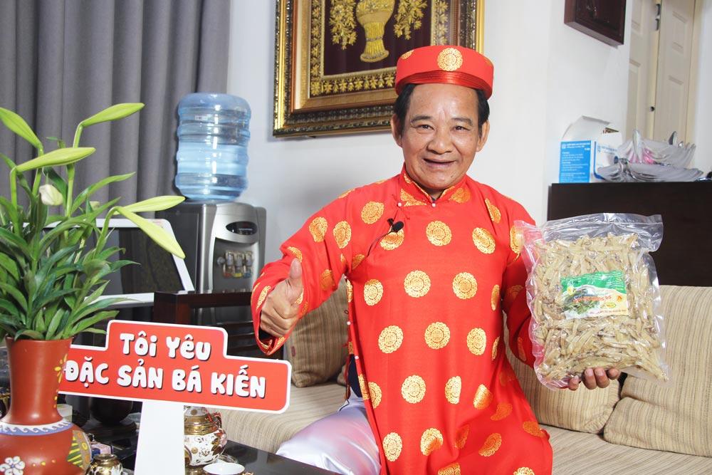 Nghệ sĩ Quang Tèo đánh giá cao chất lượng Sá sùng Quan Lạn thương hiệu Bá Kiến